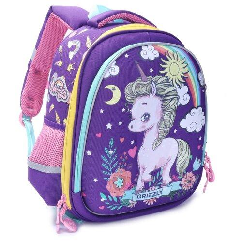 Купить Grizzly Рюкзак (RA-979-1), фиолетовый, Рюкзаки, ранцы