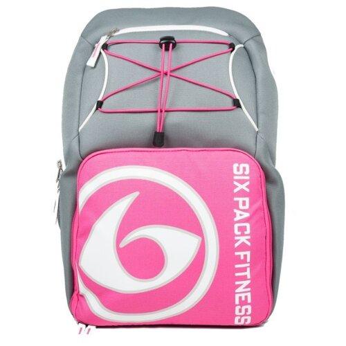 Six Pack Fitness Рюкзак Pursuit Backpack 300 серый/розовый/белый 35 л
