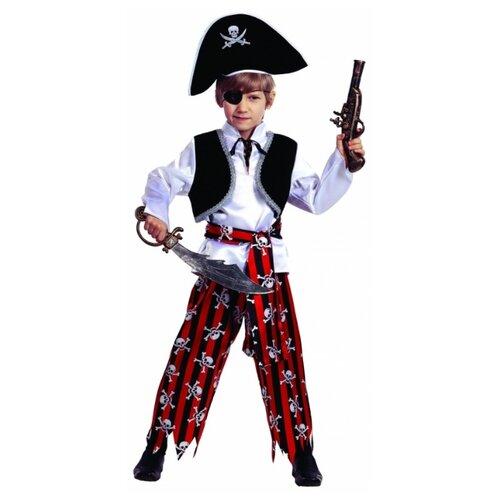 Купить Костюм Батик Пират (7012), белый/красный/черный, размер 158, Карнавальные костюмы