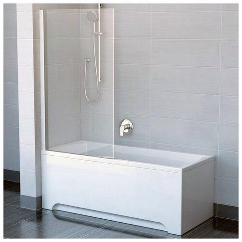 Фото - Шторка для ванны одноэлементная, поворотная Ravak CVS1 80 левая, профиль сатин, прозрачное стекло 7QL40U00Z1 шторка для ванны ravak chrome cvs1 80 l блестящая стекло transparent