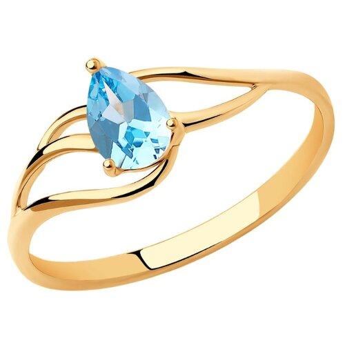 Diamant Кольцо из золота с топазом 51-310-00973-1, размер 16.5