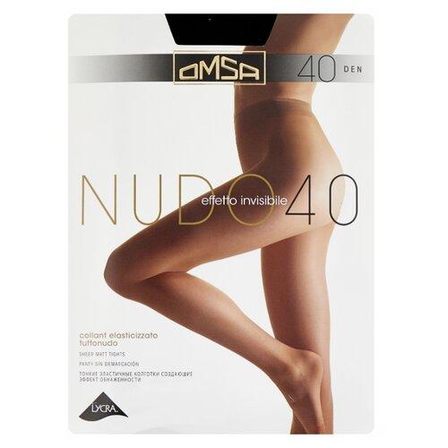 Колготки Omsa Nudo 40 den, размер 3-M, nero (черный) колготки omsa silhouette 15 den размер 3 m nero