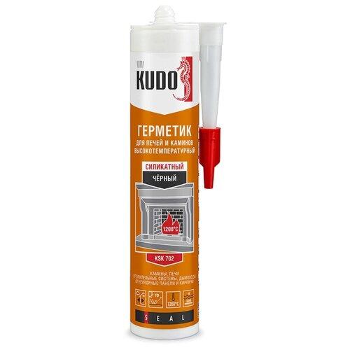 Герметик KUDO KSK для печей и каминов 280 мл. черный герметик силикатный grover f100 для печей и каминов черный 300мл