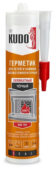 Герметик KUDO KSK для печей и каминов 280 мл.