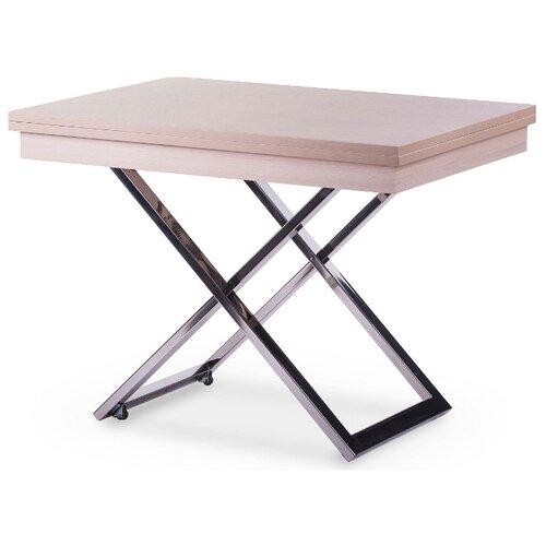 Стол кухонный Levmar Cross LT, раскладной, ДхШ: 101 х 80 см, длина в разложенном виде: 202 см, выбеленный дуб
