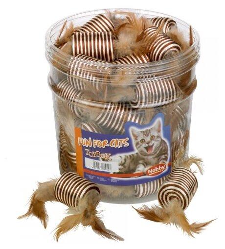 Игрушка для кошек Nobby Катушка с перьями 36 шт. (71912)