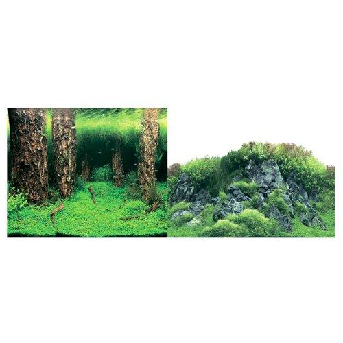 Пленочный фон Prime Затопленный лес/Камни с растениями двухсторонний 60х150 см