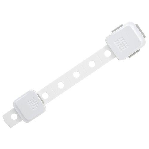 Гибкий универсальный блокиратор RDG-005L ROXY-KIDS белый/серый блокирующие устройства roxy kids универсальный регулируемый гибкий блокиратор 3 кнопки