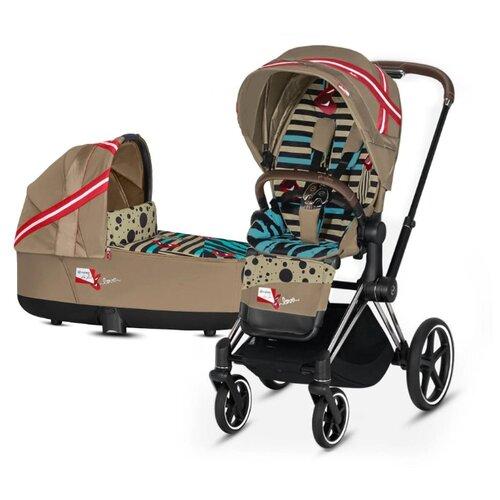Универсальная коляска Cybex Priam III Fashion Edition (2 в 1) one love/chrome/brown, цвет шасси: серебристый