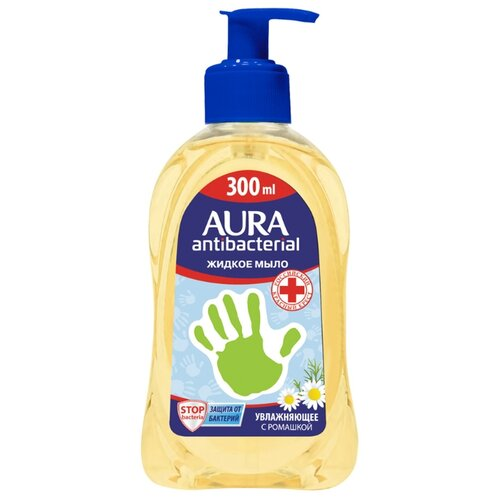 Мыло жидкое Aura с антибактериальным эффектом Ромашка, 300 мл