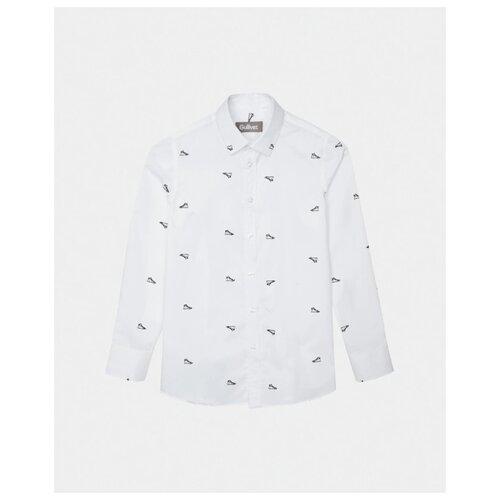 Рубашка Gulliver размер 128, белый, Рубашки  - купить со скидкой