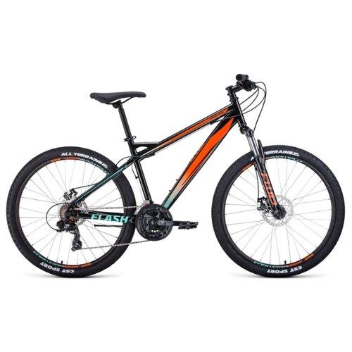 цена на Горный (MTB) велосипед FORWARD Flash 26 2.0 Disc (2020) черный/оранжевый 17 (требует финальной сборки)