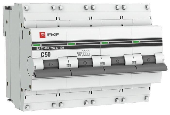 Автоматический выключатель EKF ВА 47-100 4P (C) 10kA