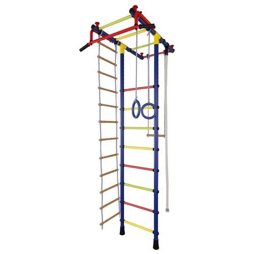 Купить Шведская стенка TMK PRO Маугли 02 синий/радуга, Игровые и спортивные комплексы и горки