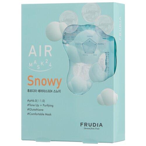 Frudia Обновляющая кремовая маска для лица Snowy, 25 мл, 10 шт. обновляющая маска с полифенолами винограда 90 мл swisspure для лица