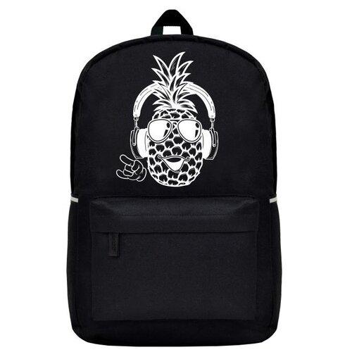 Купить Феникс+ Рюкзак Веселый ананас (49608), черный, Рюкзаки, ранцы