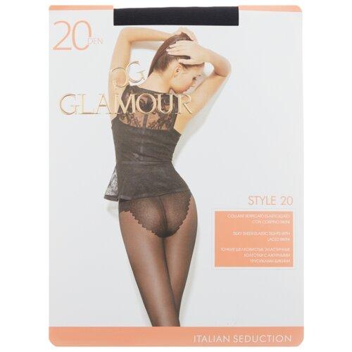 Колготки Glamour Style 20 den, размер 5-XL, nero (черный) колготки glamour style 5 20 den медный