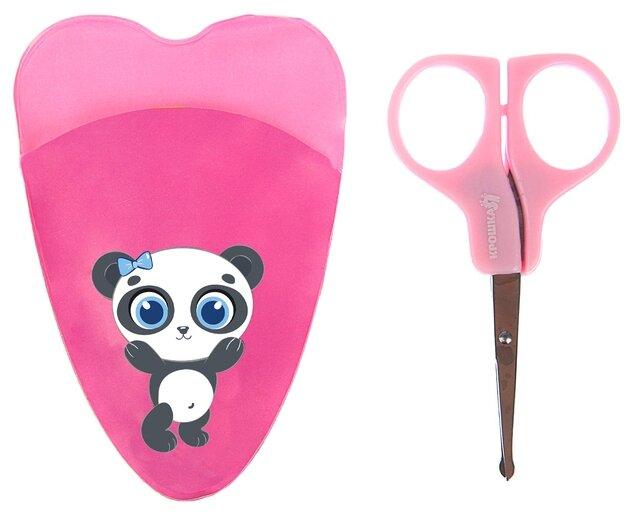 Крошка Я Ножницы детские маникюрные Панда, с чехлом