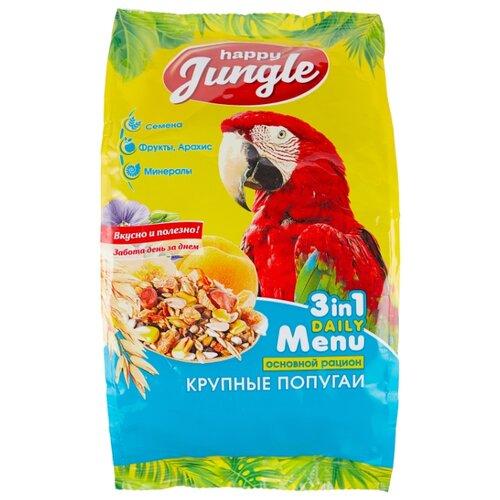 Happy Jungle Корм Daily Menu для крупных попугаев 500 г rio корм daily feed для крупных попугаев 500 г