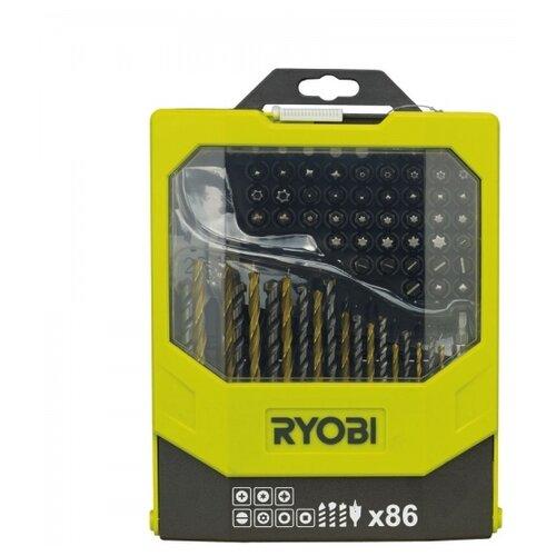 Набор бит и свёрл RYOBI (86 предм.) RAK86MiX черный/желтый