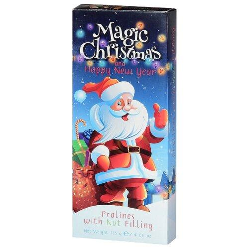 Шоколад Luzyckie Praliny Magic Christmas молочный пралине с орехом, 115 г