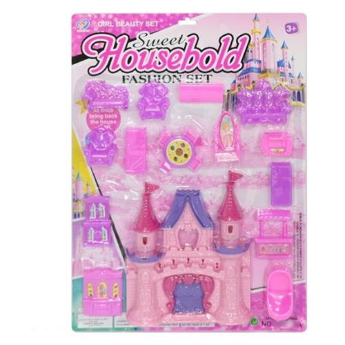 """Shantou Gepai кукольный домик """"Sweet Housebold"""" ZY892861, розовый/фиолетовый"""