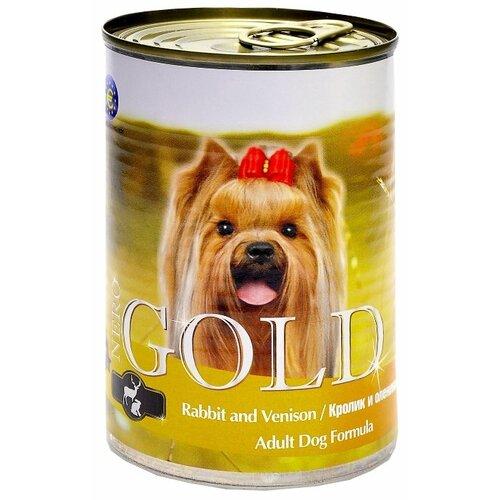 Влажный корм для собак Nero Gold кролик, оленина 410г