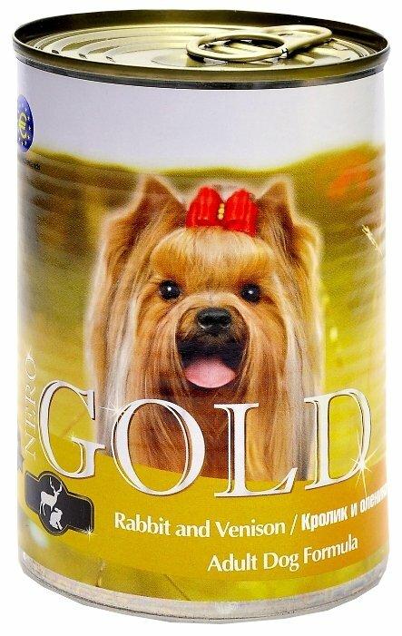 Корм для собак Nero Gold кролик, оленина 410г