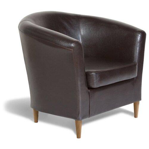 Классическое кресло Шарм-Дизайн Евро Лайт размер: 80х79 см, обивка: искусственная кожа, цвет: коричневый