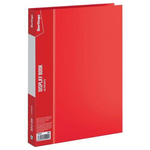 Фото - Berlingo Папка с 60 вкладышами Standard A4, пластик красный berlingo папка со 100 вкладышами standard a4 пластик синий