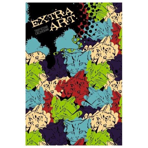 Блокнот Listoff EXTRA ART. Красочные кошки А5+, 128 листов (ЕЖТ18512817) фото