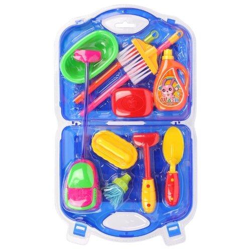 Фото - Набор Наша игрушка Хозяйка 58517 синий/красный/зеленый/желтый набор посуды тигрес ромашка 39121 красный желтый зеленый синий