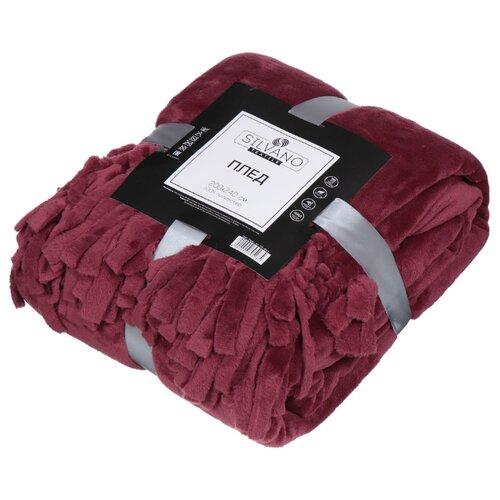 Плед Silvano Textile Флоренция Бахрома 200 x 240 см (TSF-200) бордо