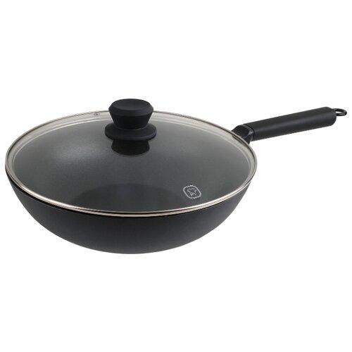 Сковорода-вок Rondell Loft RDA-1146 30 см с крышкой, черный 1142 rda вок casual 28 8 0 см rondell