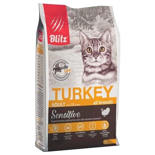 Корм для кошек Blitz Adult Cats Turkey dry (2 кг) first blitz