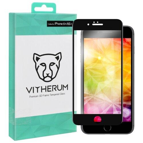 Защитное стекло Vitherum 3D TURQUOISE для Apple iPhone 6 Plus/6S Plus черный защитное стекло caseguru для apple iphone 6 6s silver logo