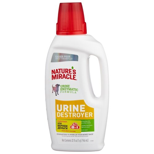 Моющее средство Nature's Miracle уничтожитель пятен и запахов от мочи собак Urine Destroyer 946 мл