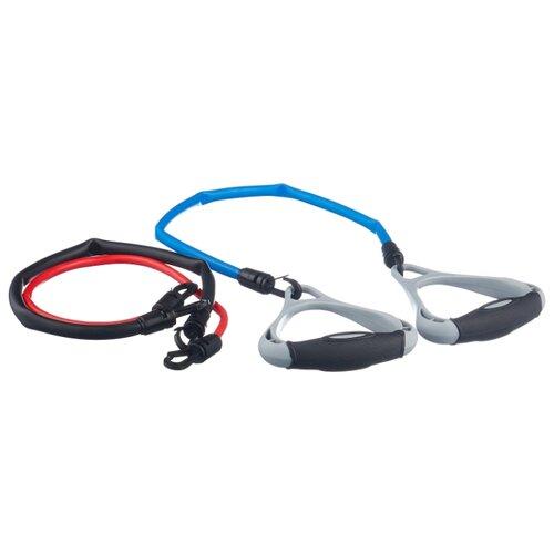 цена на Эспандер плечевой 3 шт. Indigo 12102 HKAS 3 жгута 48 см черный/синий/красный