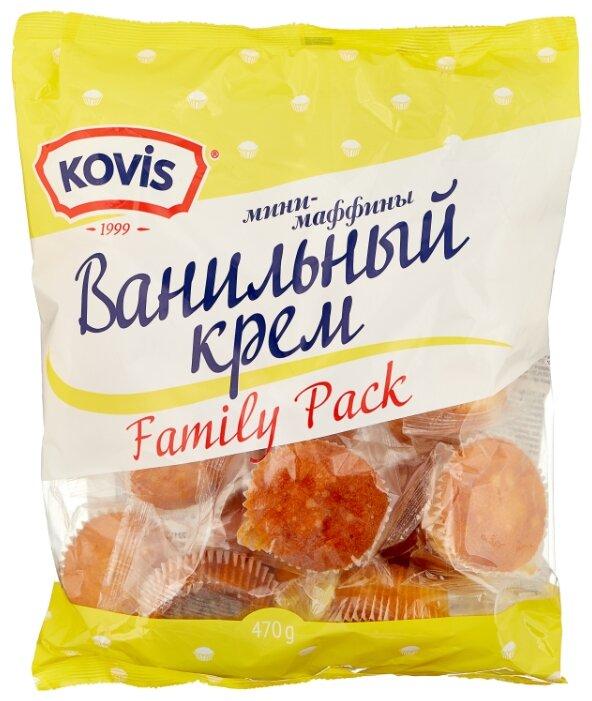 Мини-маффин KOVIS с начинкой ванильный крем (16 шт.)