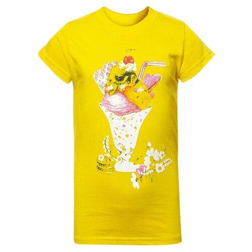 Купить Футболка M&D размер 92, желтый, Футболки и рубашки