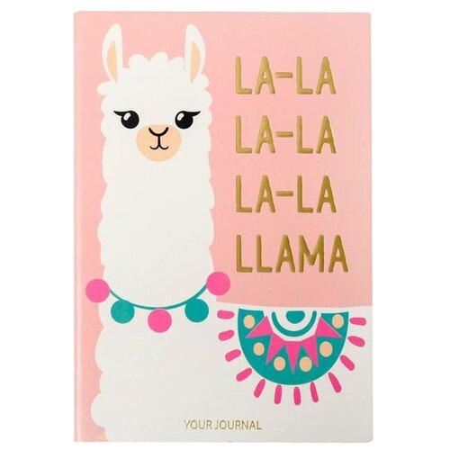 Купить Ежедневник ArtFox LA-LA LLAMA 4812805, искусственная кожа, А5, 96 листов, розовый, Ежедневники, записные книжки