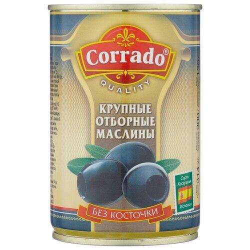 Corrado Маслины крупные отборные без косточки в рассоле, жестяная банка 300 г corrado маслины крупные отборные без косточки 300 г