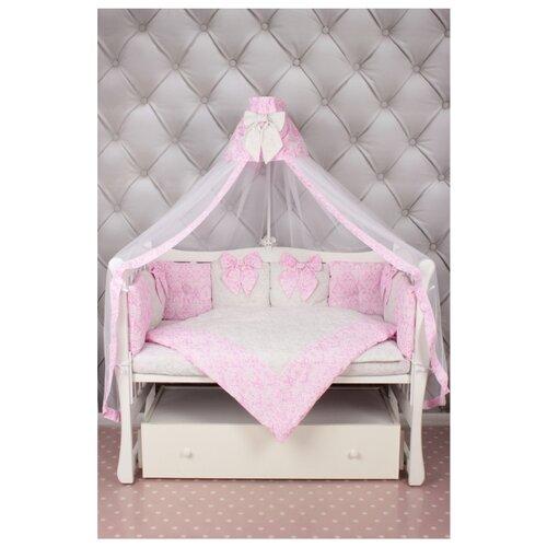 Amarobaby комплект в кроватку Premium Элит (7 предметов) розовый комплект в кроватку amarobaby wb premium 18 предметов 6 12 бортиков фламинго попл малин сер