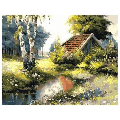 Купить ВанГогВоМне Картина по номерам Домик в лесу , 40х50 см (ZX 10114), Картины по номерам и контурам