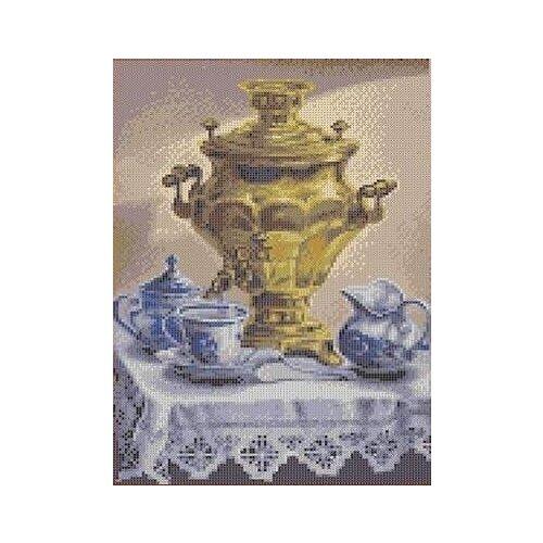 Купить Самовар Рисунок на ткани 23, 6х35, 6 Каролинка ТКБЛ 3032, Канва