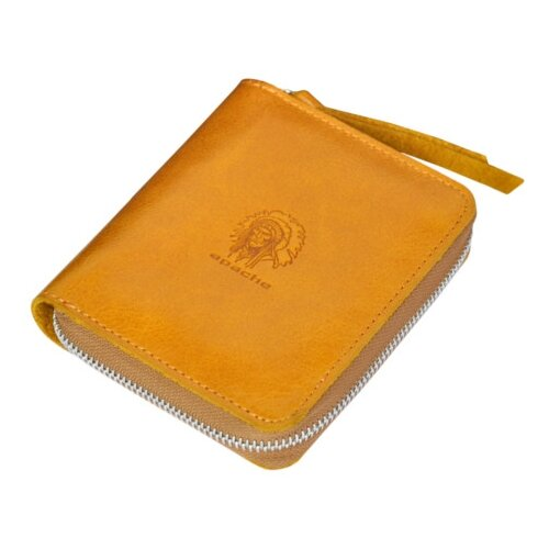 Фото - Портмоне на молнии МП-2-А табачно-желтое Apache портмоне кожаное для документов и денег вп а табачно желтое apache
