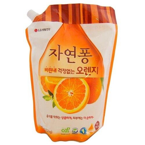 LG H&H Natural Pong Жидкое средство для мытья посуды Orange 1.2 л трикотаж h