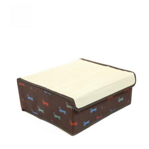 Фото - Удачная покупка Коробка для хранения RYP103 коричневый/белый коробка рыжий кот 33х20х13см 8 5л д хранения обуви пластик с крышкой