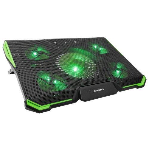 Подставка для ноутбука CROWN MICRO CMLS-K332, черный/зеленый