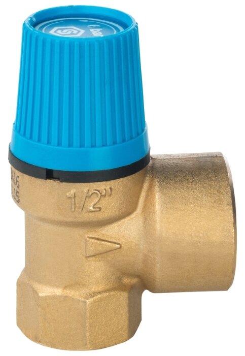 Предохранительный клапан STOUT SVS-0003-006015 муфтовый (ВР/ВР), латунь, 6 бар, Ду 15 (1/2